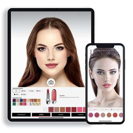 AR Makeup Discovery Apps : virtual tryon