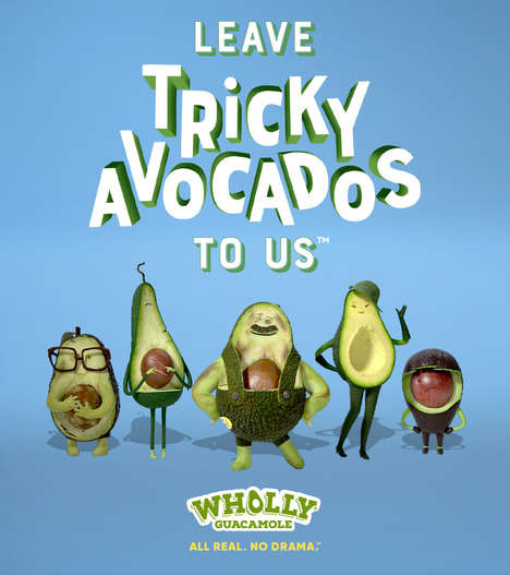 Anthropomorphized Avocado Campaigns : avocado campaign