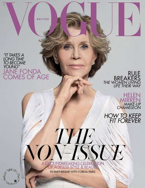 Anti-Ageism Magazine Covers : British Vogue and L'Oreal