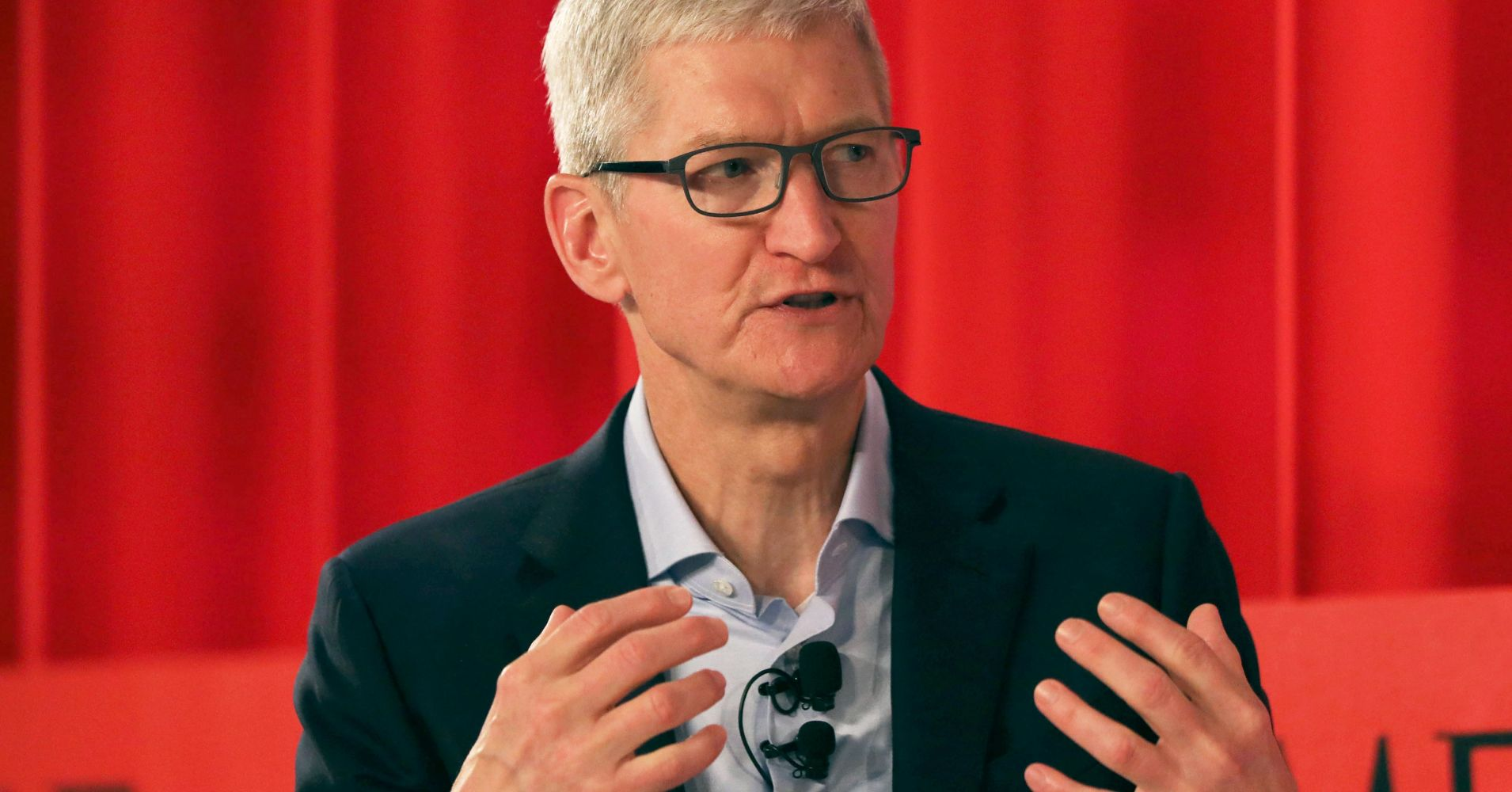 Apple CEO Tim Cook speaks at the TIME 100 Summit on April 23, 2019 in New York City.