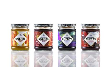 Artistically Packaged Preserves : Duerr's jams and marmalades