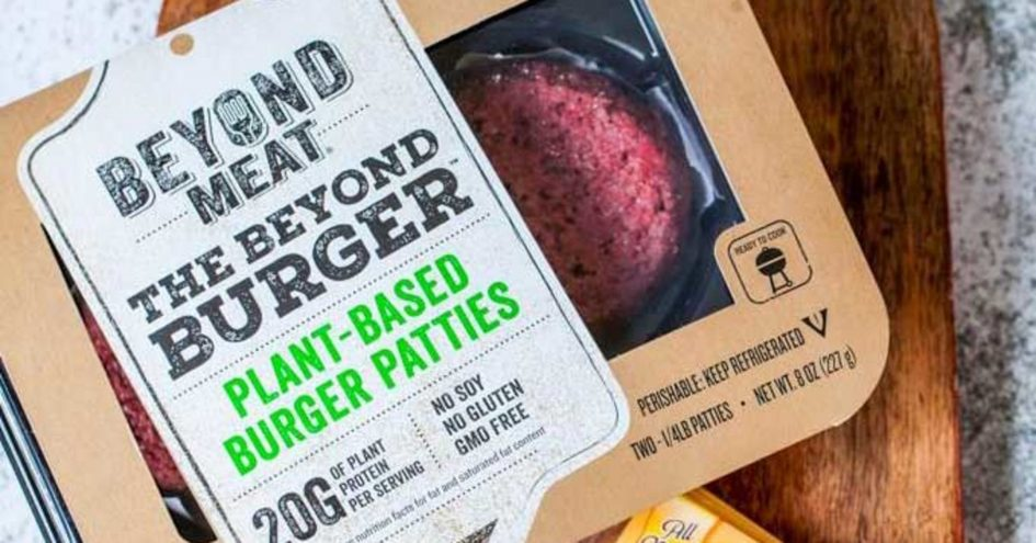 Beyond Meat plant-based burger patties.