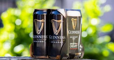 Biodegradable Beer Can Packaging : Guinness beer packs
