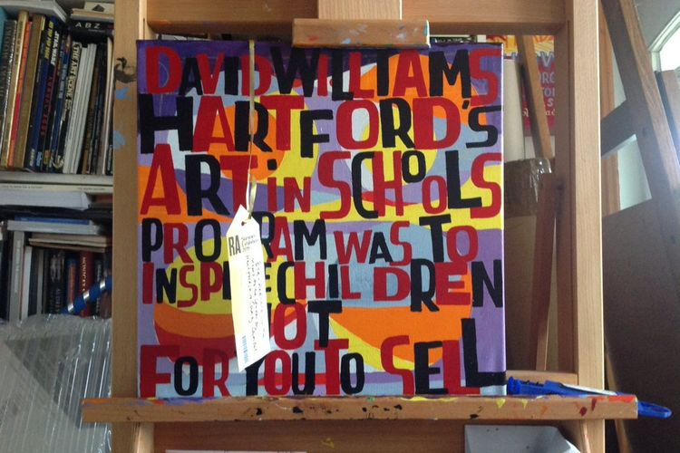 Bob and Roberta Smith takes council sell-off protest to the Royal Academy
