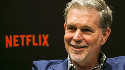 Netflix CEO Reed Hastings speaks during an interview on day two of the Netflix See What