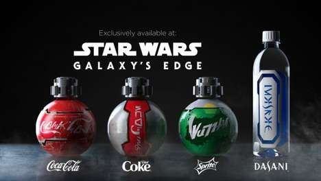 Galaxy-Themed Cola Bottles : Galactic Bottles
