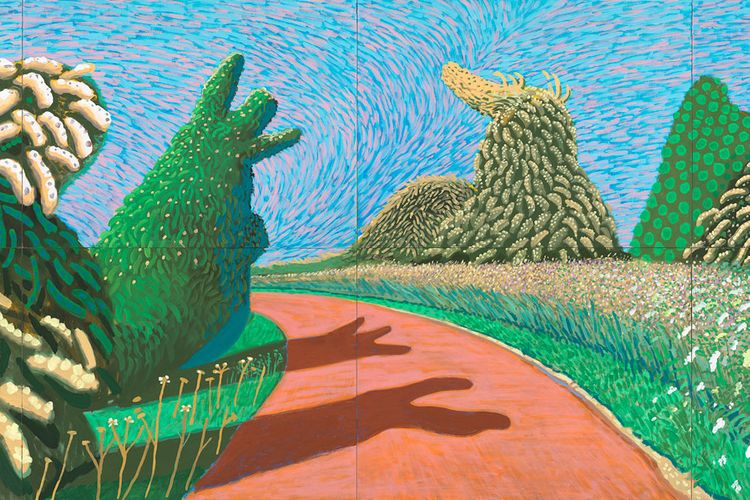 Hockney-Van Gogh exhibition is 'a tame, though colourful, bit of fluff'