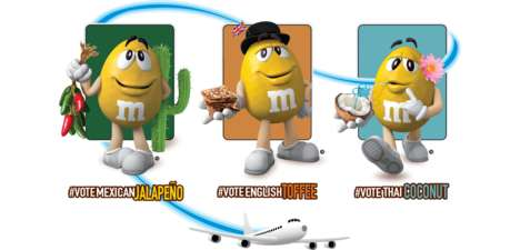 Internationally Flavored Candy Votes : M&M's New Arrivals