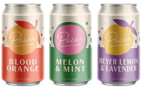 Low-Calorie Seltzer Cocktails : Pacer Low Proof Seltzer