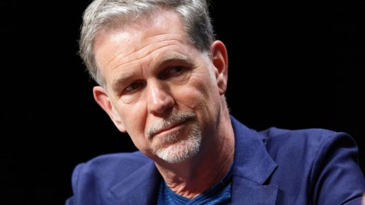 Netflix Co-founder, Chairman & CEO Reed Hastings attends a Q&A during a Transatlantic Forum in Lille, France.