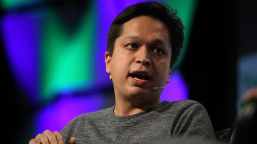 Pinterest CEO Ben Silbermann speaks in conversation with Matthew Lynley of TechCrunch during the TechCrunch Disrupt SF 2017 on September 18, 2017 in San Francisco, California.