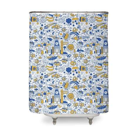 Pretzel Chain Shower Curtains : fun shower curtain