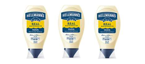 Recycled Plastic Condiment Packaging : Hellmann's packaging