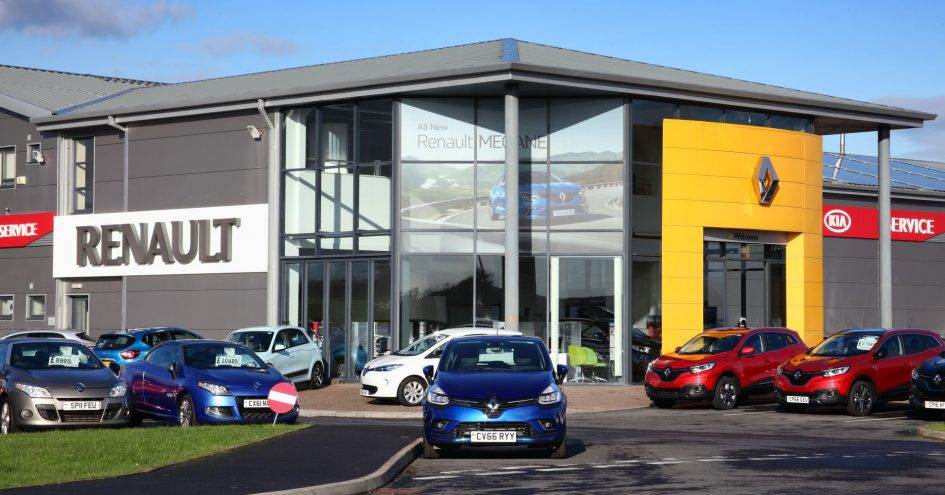 A Renault car showroom