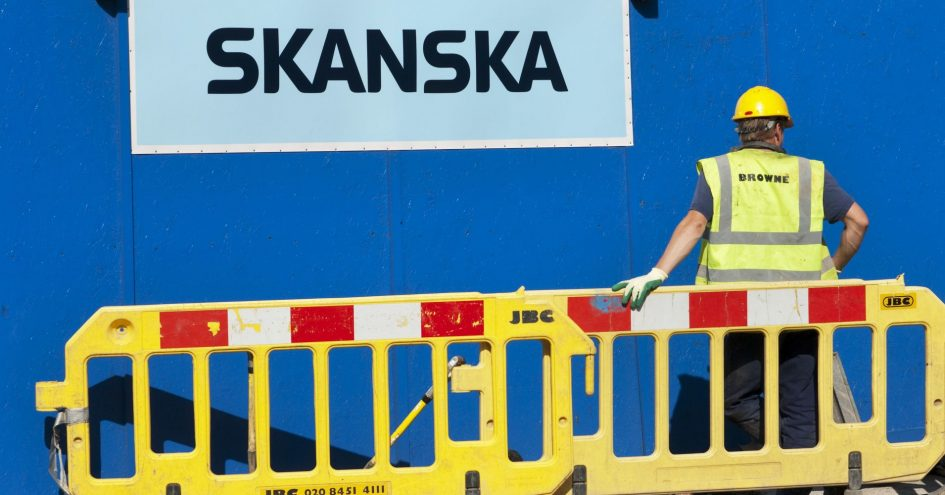 Skanska shares drop on builder's surprise Q1 profit drop