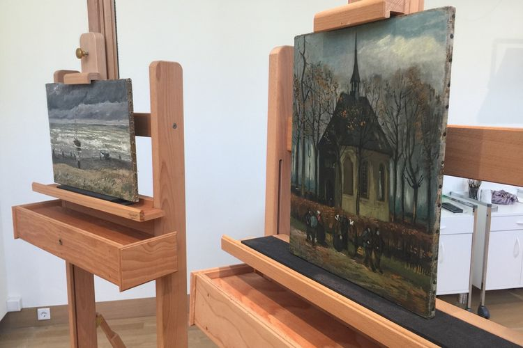 Two stolen Van Goghs go back on display after 14-year ordeal at the hands of Italian gangsters