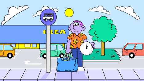 Adorably Quirky Animation Campaigns : IKEA employees