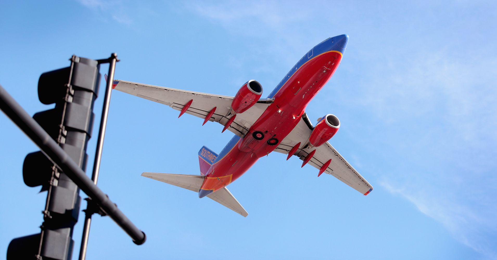 A Southwest Airlines jet leaves Midway Airport on January 25, 2018 in Chicago, Illinois.