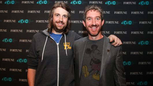 Mike Cannon-Brookes, left, and Scott Farquhar, co-founders and co-CEOs of Atlassian and 2016 honorees on Fortune