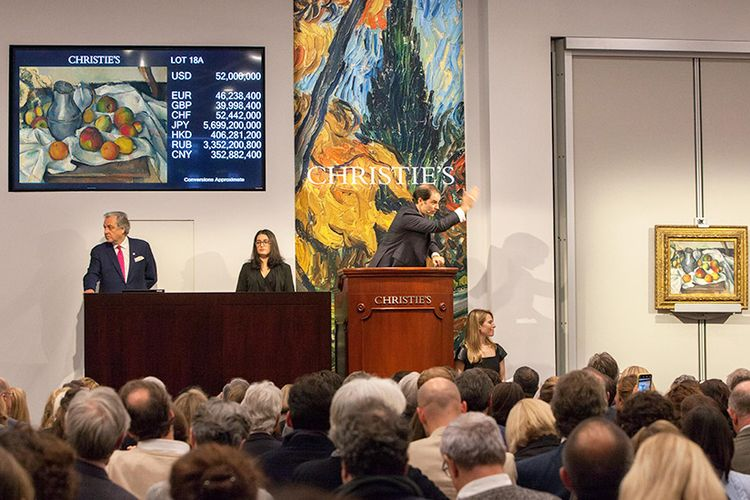 Big but bland Impressionists lead Christie's sale, with new records for a peachy Cezanne and feline-filled Bonnard