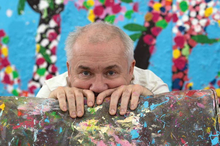 Blossoming artist: Damien Hirst on returning to the studio, fluorescent florals and the 'muppets' in government