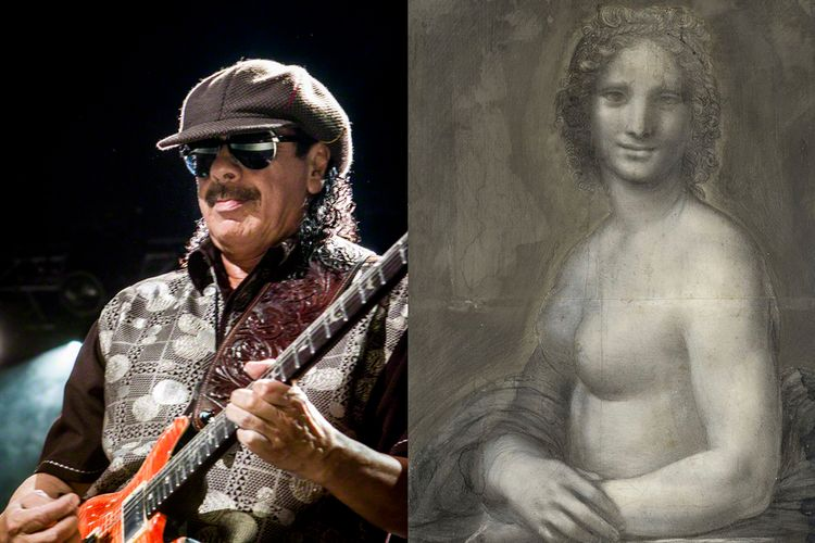 Carlos Santana dreams of seeing the Mona Lisa naked: now he can