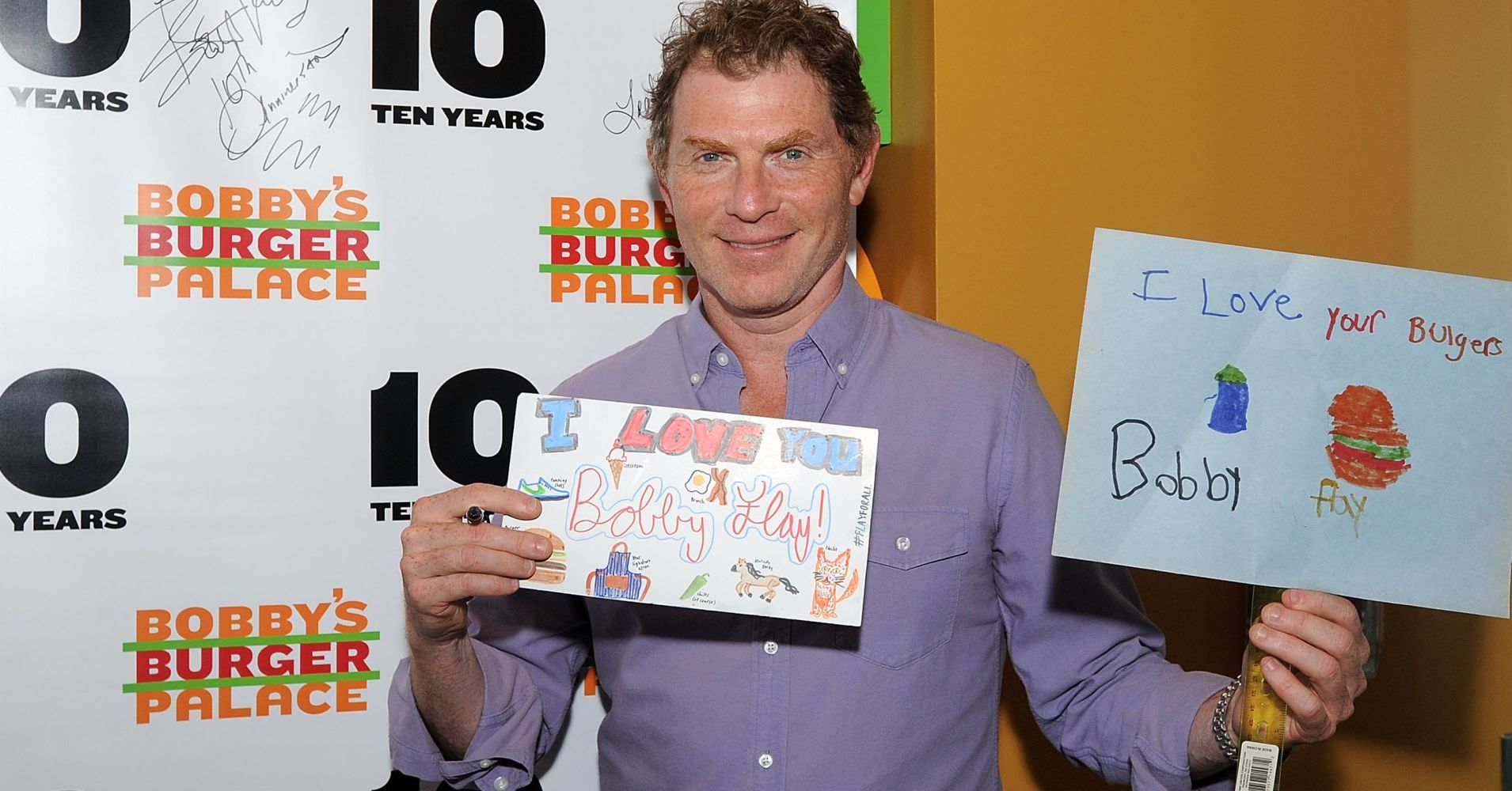 EATONTOWN, NJ - AUGUST 08:  Bobby Flay attends his Bobby's Burger Palace 10 Year Celebration at Bobby's Burger Palace at Monmouth Mall on August 8, 2018 in Eatontown, New Jersey.  (Photo by Bobby Bank/Getty Images)