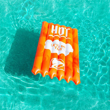 Condiment-Themed Pool Floats : summer pool float
