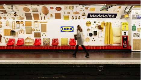 Creative Subway Station Campaigns : billboards in the Subway
