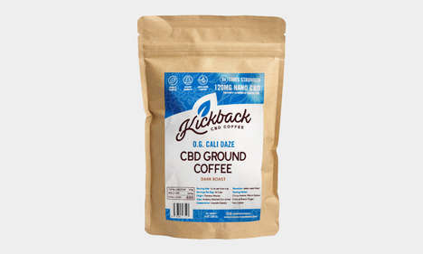 Dark Roast CBD Coffees : Cold Brew CBD Coffee