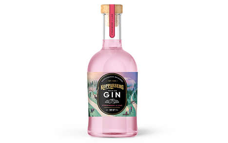 Double-Distilled Strawberry Lime Gins : Premium Gin