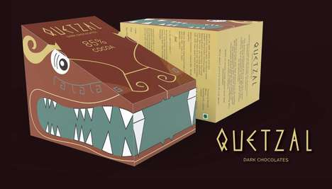 Dragon-Like Chocolate Packaging : QUETZAL