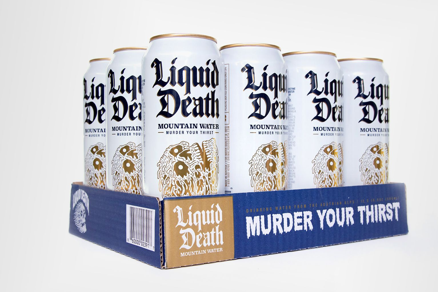 Ex-Netflix creative director raises $1.6 million for Liquid Death canned water