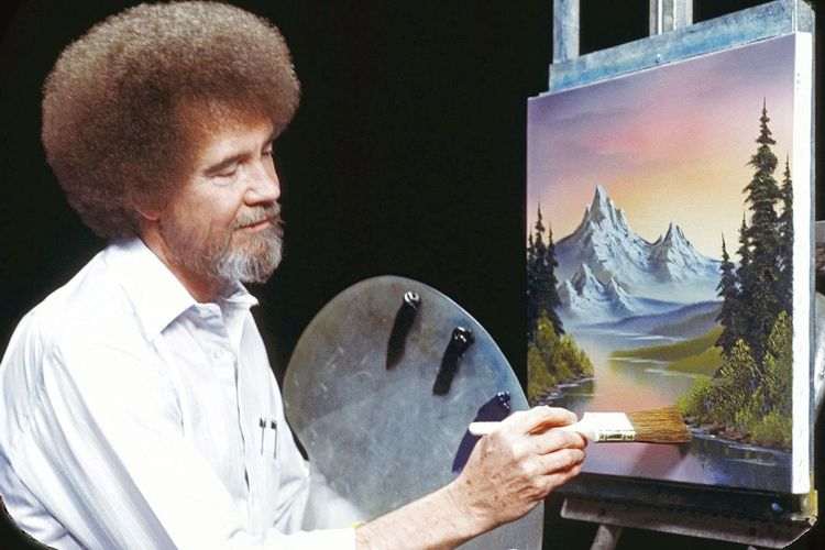 Happy little clouds: Bob Ross's first museum show aims to change his reputation