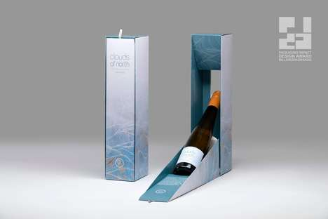 Interactive Alcohol-Free Wine Packaging : clouds of north