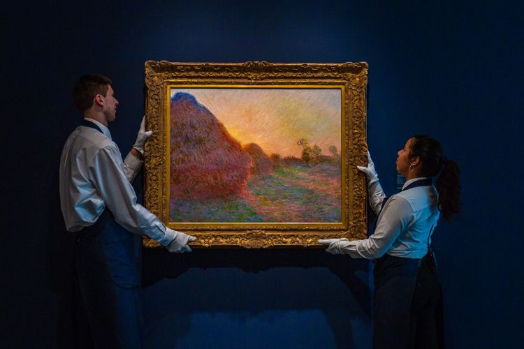 Monet's glowing haystacks set alight Sotheby's Impressionist and Modern art sale with a new £97m record
