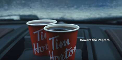 Playoffs-Themed Coffee Ads : Beware the Raptors