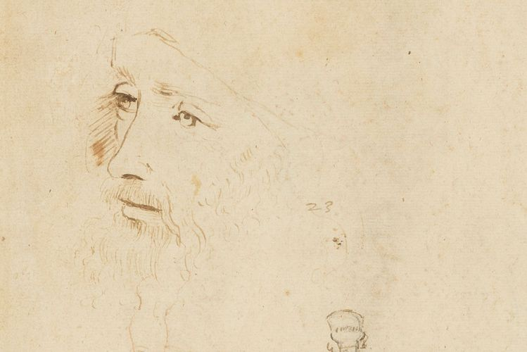 Portrait sketch of Leonardo da Vinci discovered in Britain's Royal Collection
