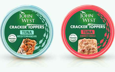 Premixed Canned Tuna Snacks : John West Cracker Toppers