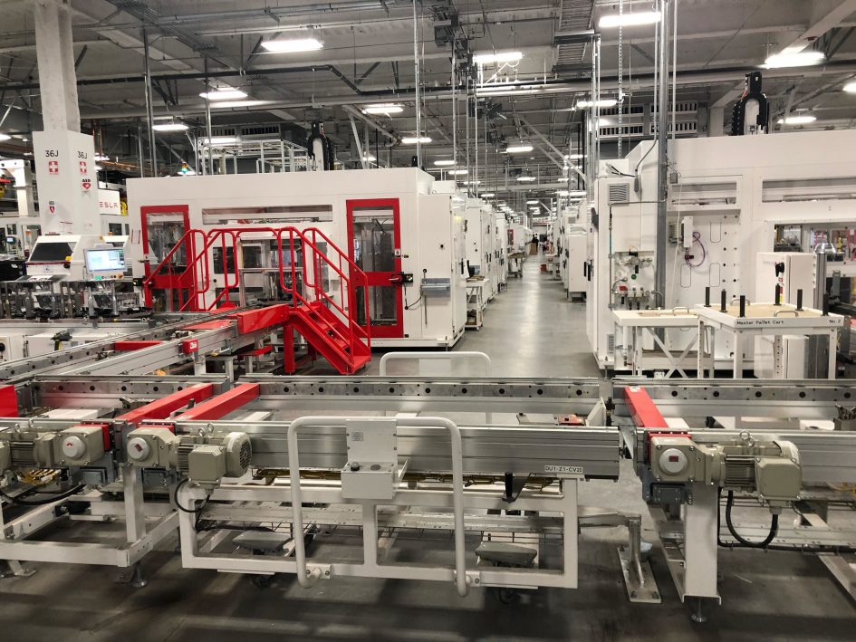 We went inside Tesla's Gigafactory. Here's what it looked like