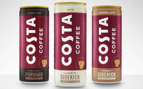 Conveniently Prepackaged Coffee Drinks : canned coffees