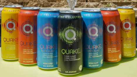 Energizing Convenience Brand Refreshments : Quake energy drink