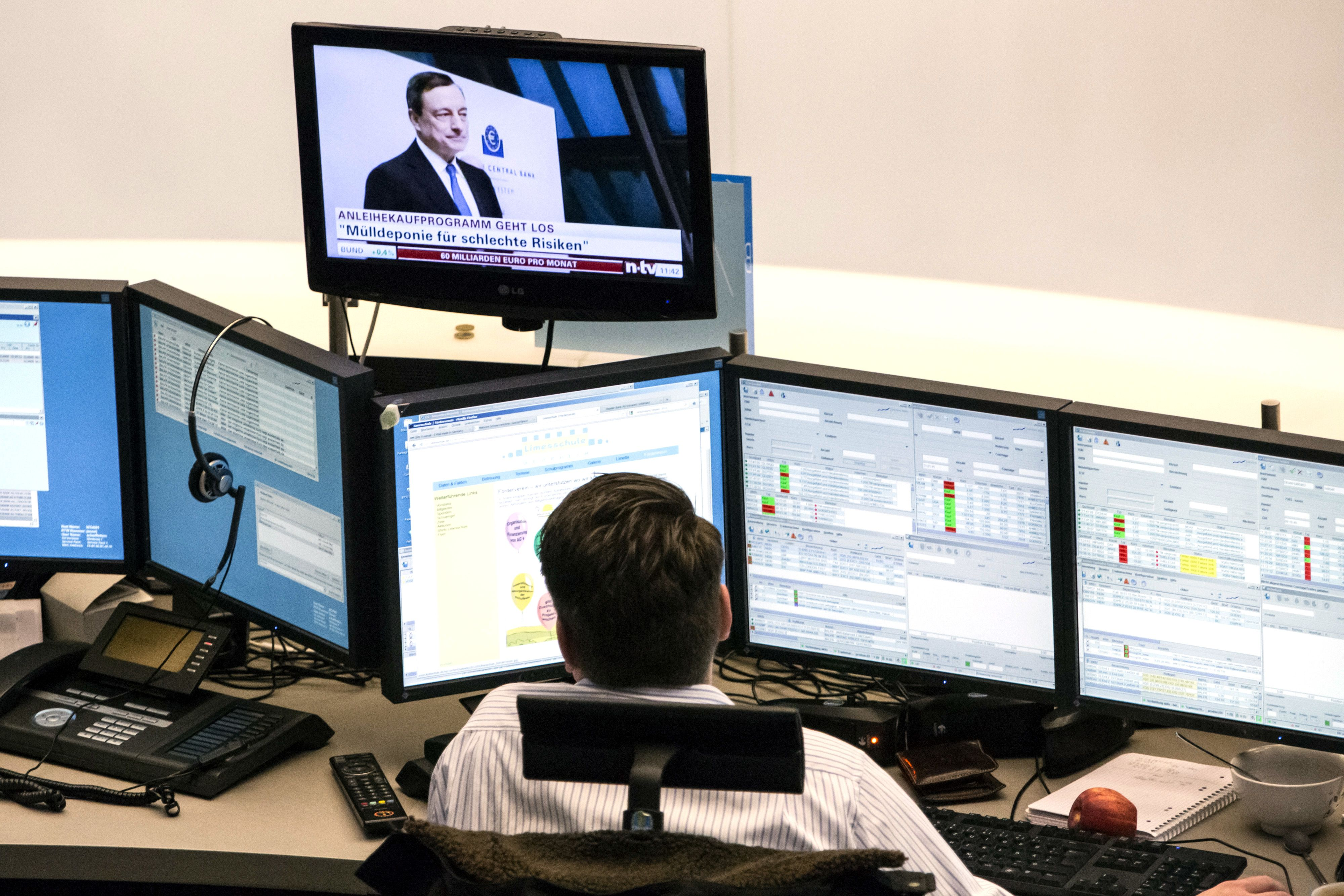 European markets slightly higher as traders look ahead to ECB decision