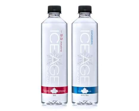 Free-From Bottled Waters : Ice Age Glacial Water