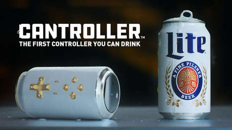 Gaming Peripheral Beer Packaging : Miller Lite Cantroller