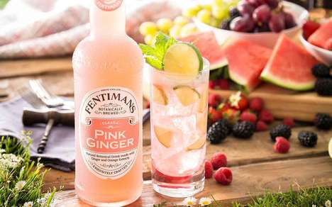 Ginger Beer Alternative Sodas : Pink Ginger Drink