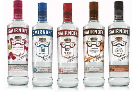 Heritage-Honoring Vodka Branding : Smirnoff Vodka packaging