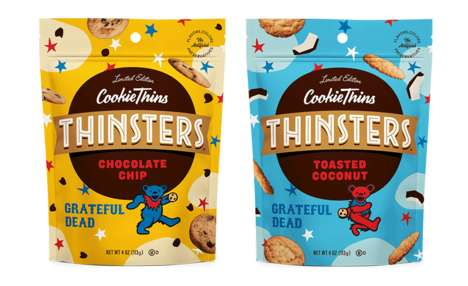 Iconic Band Snack Branding : Thinsters Grateful Dead