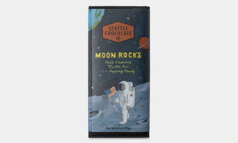 Moon Landing Commemoration Chocolates : Moon Rocks Truffle Bar