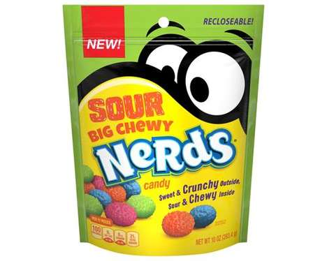 Oversized Crunchy Sour Candies : Sour Big Chewy Nerds